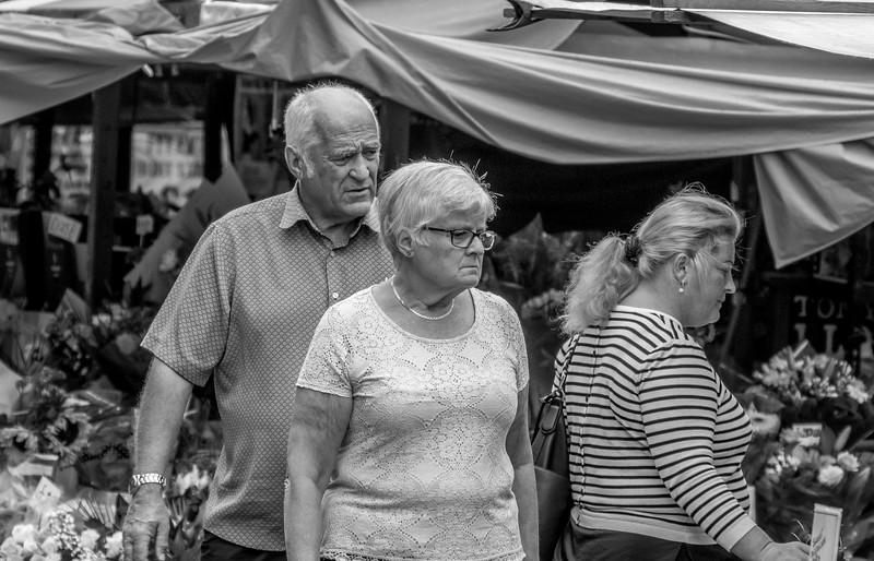 Happy Shoppers, Market Square, Northampton_