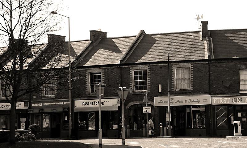 Terrace of shops, Kettieng Road, Northampton