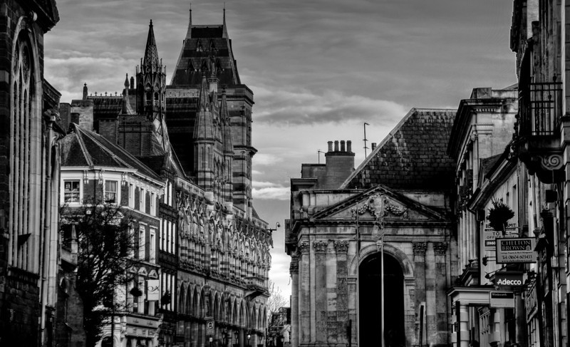 George Row and the Guildhall, Northampton