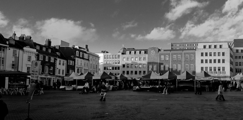 Market Square northBW