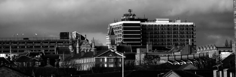 Northampton skyline, featuring Northampton House.