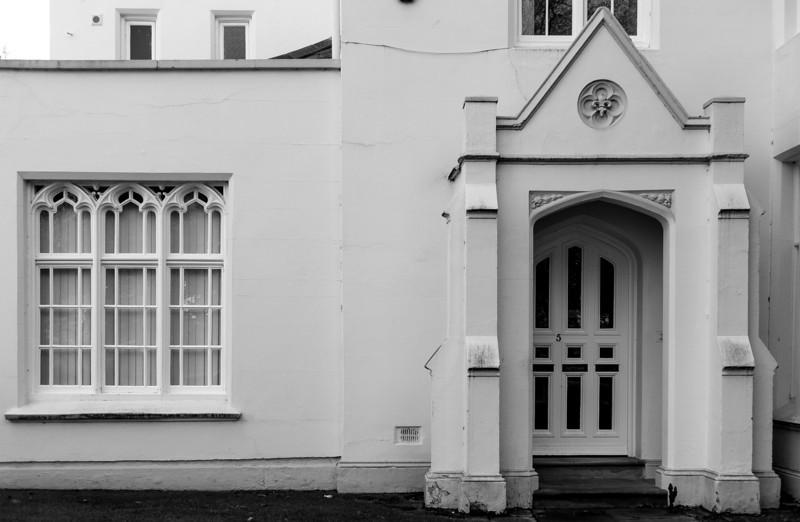 Tudor window and door detail, Spencer Parade, Northampton