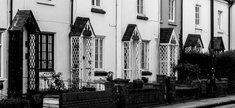 Rustic doorcases, Victoria Terrace, York Road, Northampton