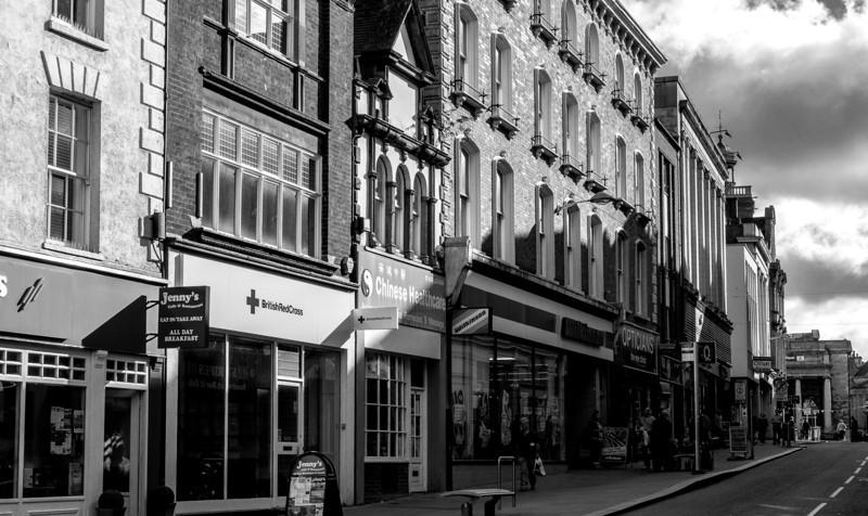 Gold Street, looking towards All Saints church, Northampton _