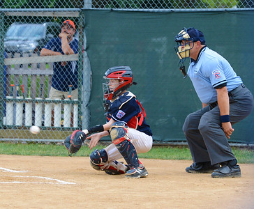 Ryan Bauerle (29) started behind the plate for Northampton.