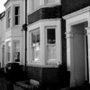 Double bay terraced houses with original sash windows, Bostock Avenue, Northampton