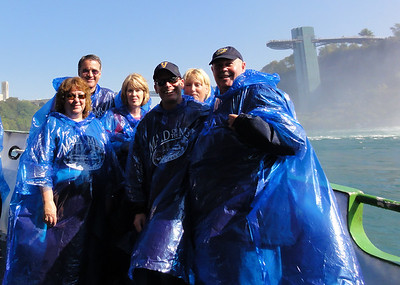 """Aboard """"The Maid of the Mist"""" on the Niagara river."""