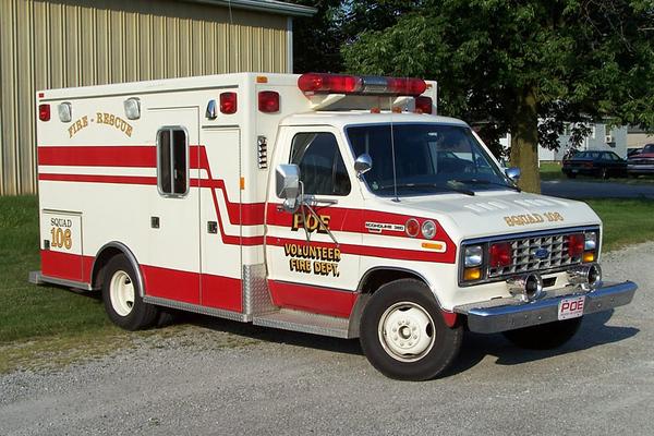 Former Squad 106 - 1984 Ford E-350/Mobile Medical