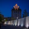 Lackawanna County Veterans Memorial Plaza + Electric City Sign