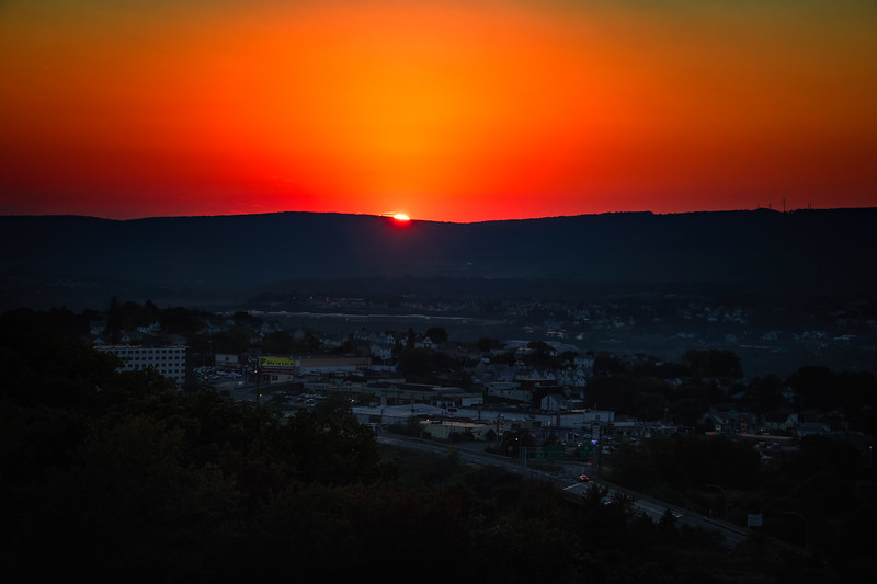 Sunset over Scranton and Taylor