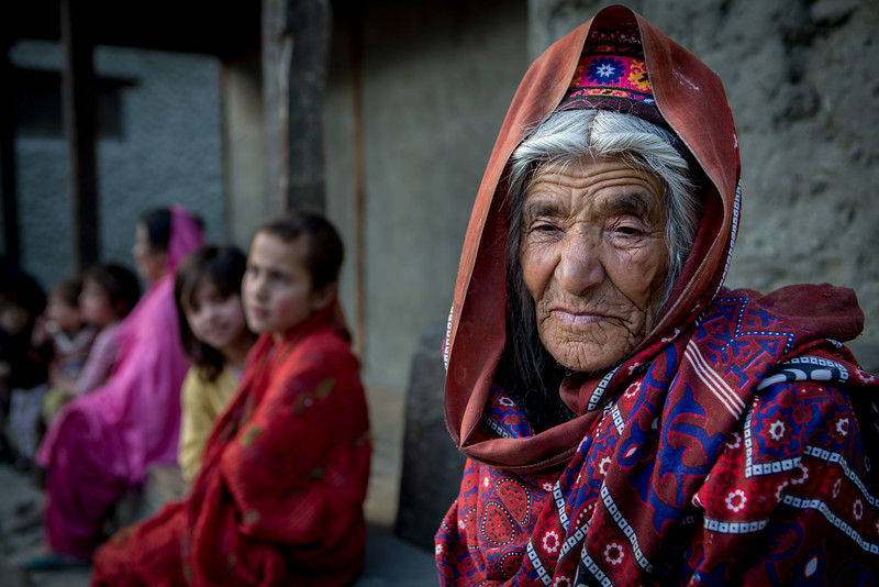 Old lady. Near Altit fort. Hunza.