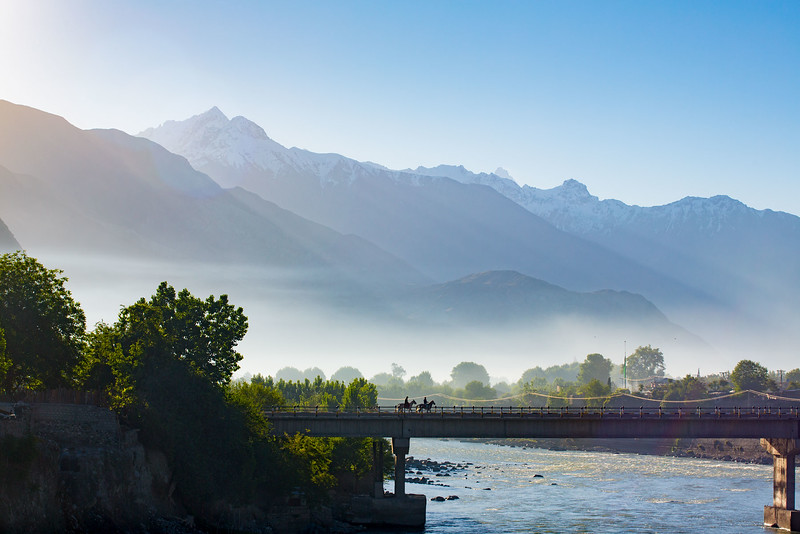 Bridge, early morning in Gilgit.