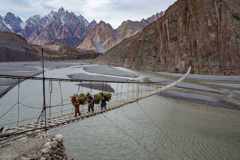 Hussaini hanging bridge. Hunza.