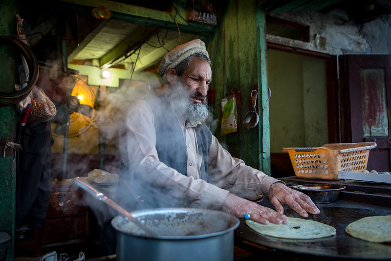 Tea stall, early morning in Gilgit.