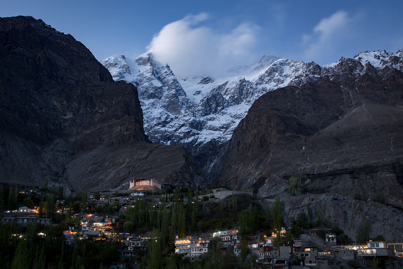 Baltit fort, evening. Karimabad. Hunza.