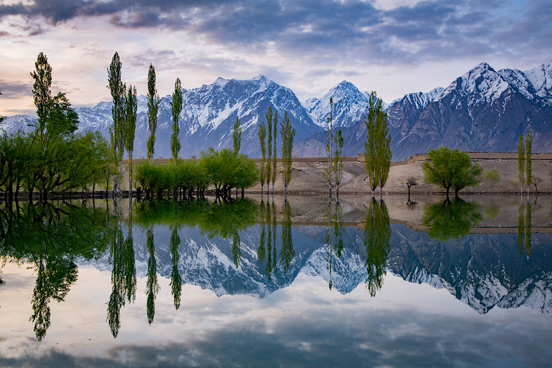 A lake near the Katpana Desert at Skardu.