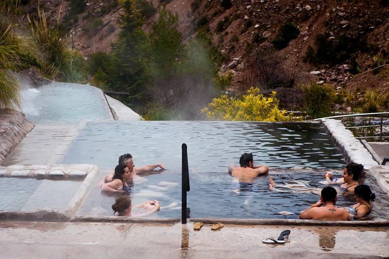 Cachueta thermal springs near Mendoza, Argentina