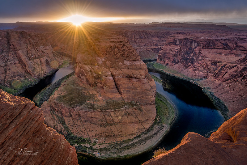 Horseshoe Bend at Sunset. Page, AZ