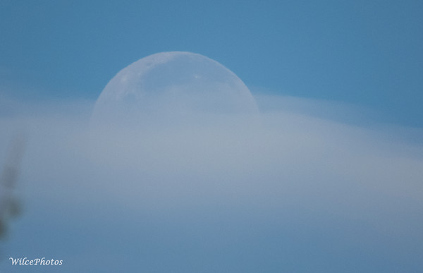 Day Moon Obscured By Clouds