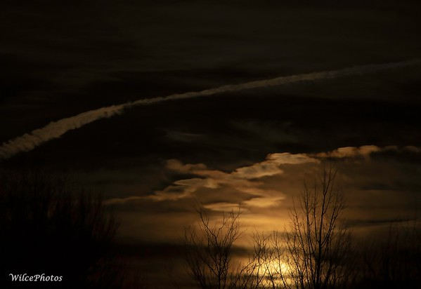 Moonrise Through Clouds (Photo #4202)