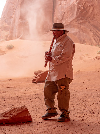 Navajo guide flute player