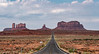 Road into Monument Valley from the north