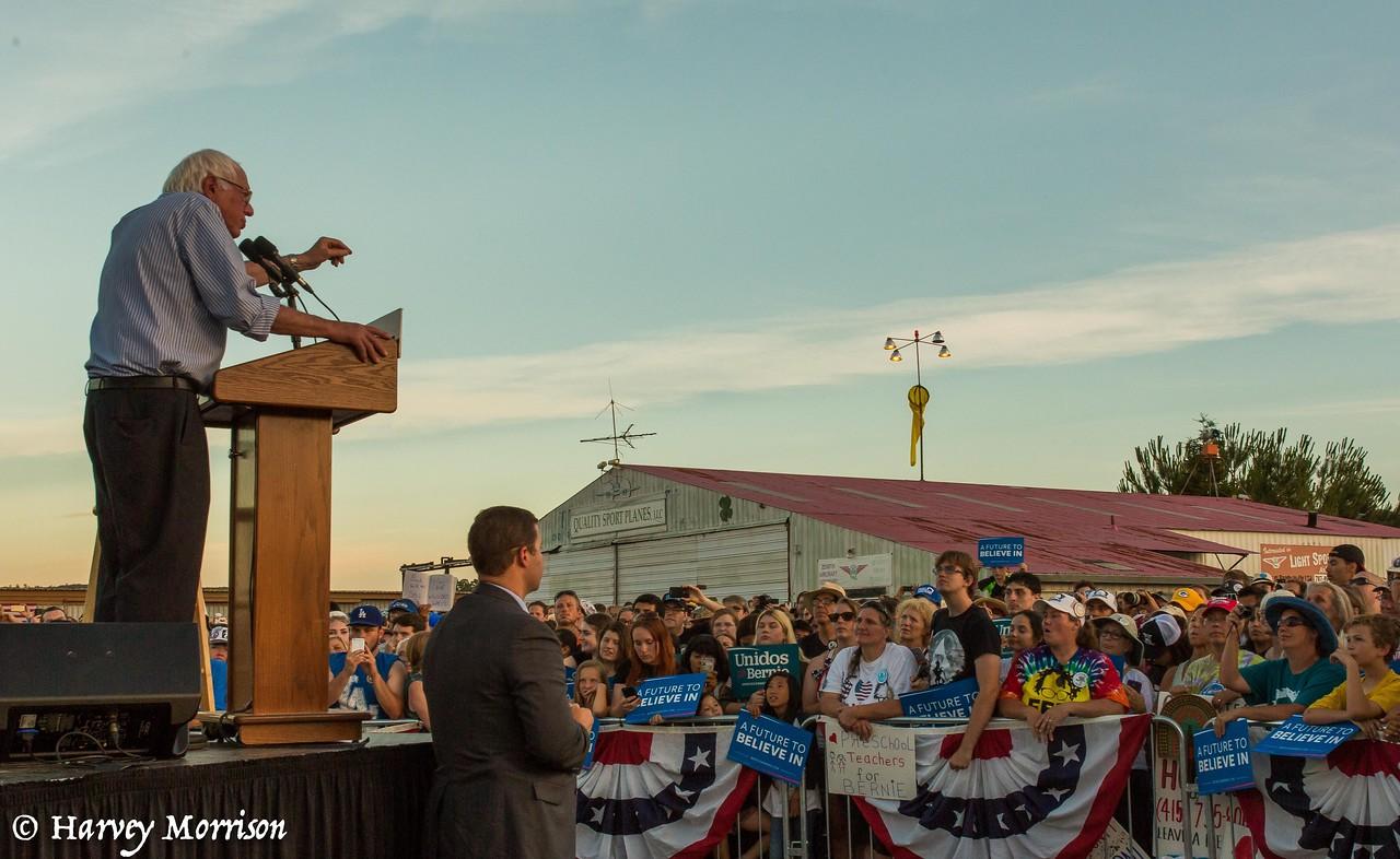 Bernie Sanders Visits Cloverdale