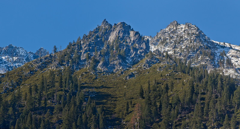 Autumn Snow on West Ridge of canyon Creek
