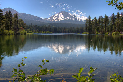 Lassen Peak from Manzanita Lake 2