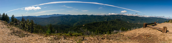 california; california coast ranges; california state parks; humbodt redwoods state park Panoramic view from Grashopper Peak
