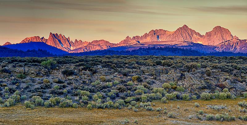 Spine of the Sierra: Minarets, Banner Peak and Ritter Peak