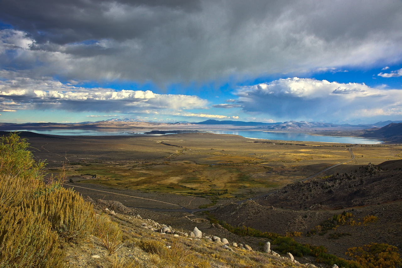 Clouds Over Mono Lake - Late Afternoon