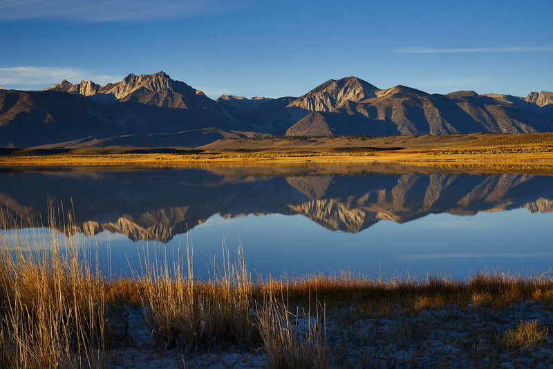Alkali Hot Springs Lake and Sierra Reflection
