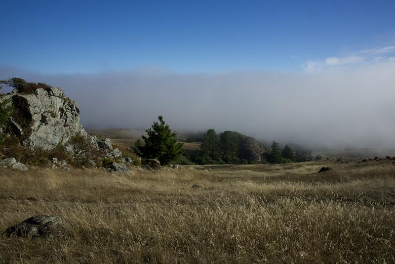 A Rocky Outcrop above the Fog