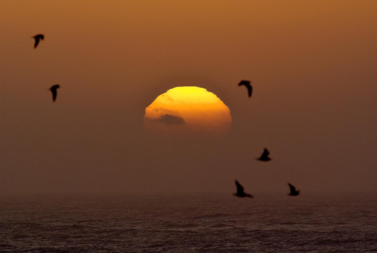 sunset cape mendocino