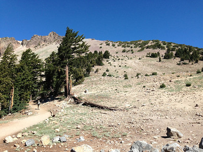 Start of trail to Lassen summit