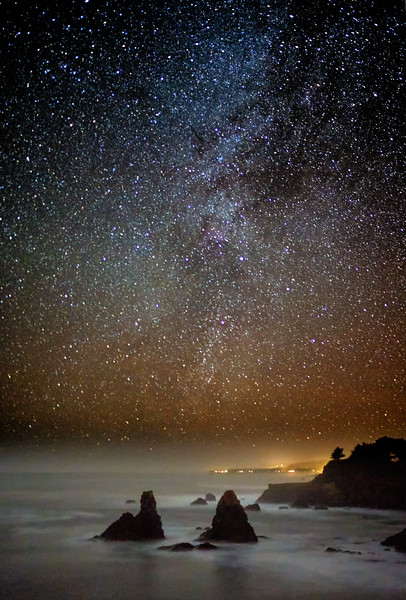 The Milky Way at Winter Solstice on the Sonoma Coast