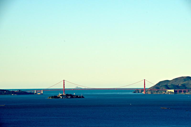 Ferrallon Islands seen through Golden Gate