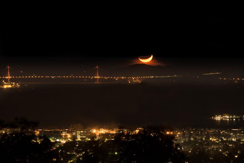 Moon over Mt Tam