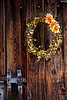 Wreath & Hand-Forged Latch