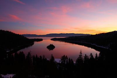 Emerald Bay at Dawn Lake Tahoe California