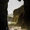 Sunlit Pfeiffer Beach portal