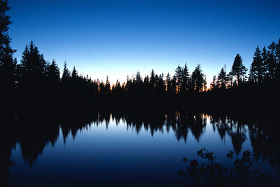 Dusk, Reflection Lake Lassen Volcanic National Park California
