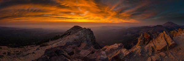 Brokeoff Mountain Fire Sunset