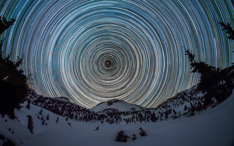 Lassen Peak Star Trail