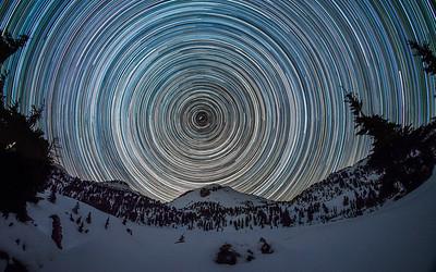 Lassen Peak Star Trail