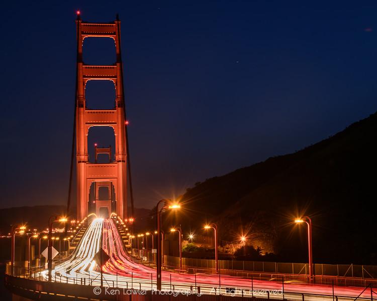 Golden Gate evening traffic II