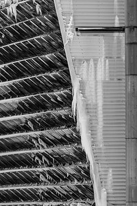 Krafla Power Station - iced up louvers on the side of the Krafla Power station turbine halls, with immense heat and energy being produced within, it was -23 degrees outside