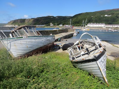 Old boats at Rathlin harbour