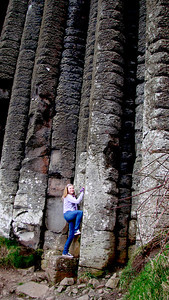 "Katherine starts her epic climb up the ""organ pipes""..."